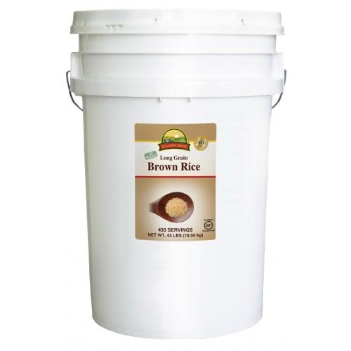Augason Farms GF Rice - Brown 6 Gallon Pail