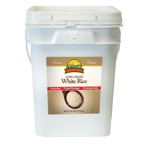 Augason Farms Rice - White 4 Gallon Pail
