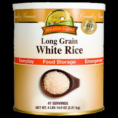 Augason Farms - White Long Grain Rice #10 Can - 78 Ounces